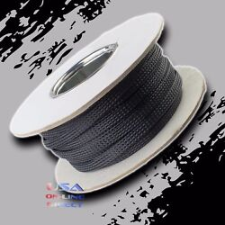 1 1/4 100ft Expandable Braided Conduit Wire Cable Weave Sleeve Hose Cover Tube