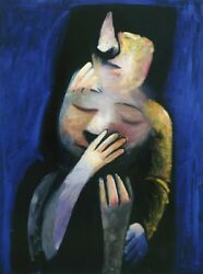 Charles Blackman - And039the Dramaand039 - Limited Edition Pigment Print - Collectable Art