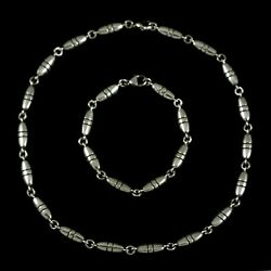 Georg Jensen Sterling Silver Necklace & Bracelet Set #391