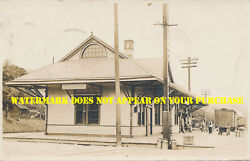 Lehigh Valley Railroad Laceyville Pa Bradford County Rppc Postally Used 1913