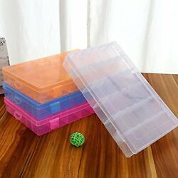 36 Grid Box Storage Organizer Case Display Collection w Adjustable Divider Big