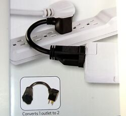 12 Grounded Outlet Extenders 2 Port - Make Room For More Bulky Ac Adapters