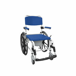 Drive Medical Aluminum Shower Commode Wheelchair Blue