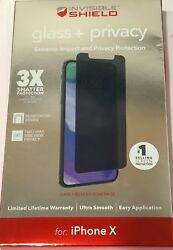New ZAGG Case Friendly Privacy Glass Plus screen for iPhone X and the New XS