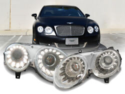FACELIFT Dual Color LED DRL Bi-Xenon Headlight For 04-10 Bentley Continental GT