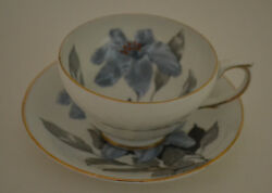 Vintage Clarence England Bone China Tea Cup With Saucer