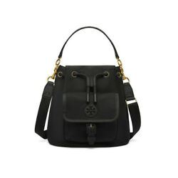 TORY BURCH Scout Drawstring Crossbody Bag Womens Cross Bag NWT Free Gift Black
