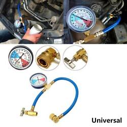 Car AC R134A Refrigerant Refill Coolant Recharge Measuring Hose Analog Gauge~Kit