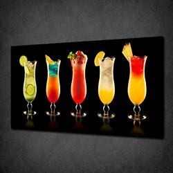 Cocktail Bar Drinks Canvas Picture Print Wall Hanging Art Home Decor