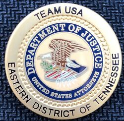 Us Attorneys Office - E District Of Tennessee New Version - Satin Gold Lapel Pin