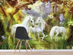 3d Unicorn Forest 8987 Wall Paper Print Wall Decal Deco Indoor Wall Murals Us