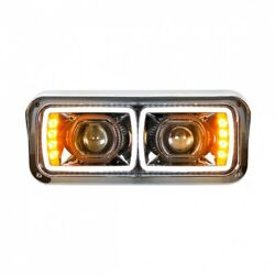 High Power Led Black Out Projection Headlight W/ Led Turn Signal - Driver Side