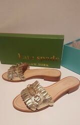 NIB! Kate Spade - Beau Sandal - in Gold Leather Sz 8M with Gold Hardware