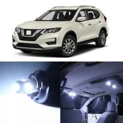 11 X White Led Interior Light Package Kit For Nissan Rogue 2014 - 2018 + Tool