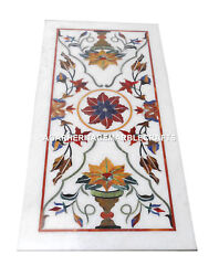 Marble Dining Table Top Rare Hakik Inlaid Marquetry Art Living Room Decor H1996