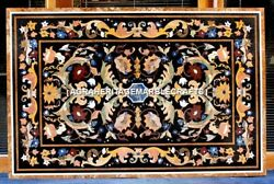 5'x3' Marble Top Dining Table Mosaic Pietra Dura Inlay Christmas Furniture H3106