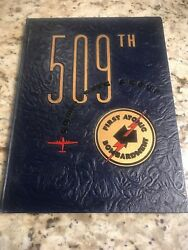 Ww2 509th Bombardment Group Composite Book Signed Dutch Van Kirk And Others