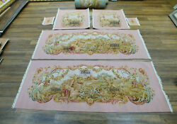 Royal Palace Interior Luxury Aubusson Chair Sofa Cover Silk Wool Pastel Pink