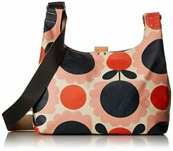 Orla Kiely Womens Midi Sling Bag Cross Body Handbag Multicolour Blush 29x21