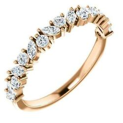 Juliette Round And Marquise Diamond 1/2 Eternity Under Bezel Wedding And Annivers