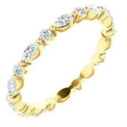 Prestine Round And Marquise Diamond Single Shared Prong Full Eternity Band