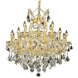 2800 Maria Theresa Collection Chandelier D30in H28in Lt19 Gold Finish Swa...