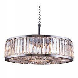 1203 Chelsea Collection Pendent Lamp D28 H15.5 Lt8 Polished Nickel Finis...