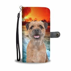Border Terrier Print Wallet Case- Free Shipping