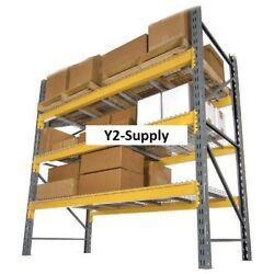 New Husky Rack And Wire Double Slotted Pallet Rack Starter 120w X 36d X 144h