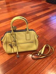 Marc Jacobs Incognito Satchel  Crossbody. MSRP $2600. Yellow. 100% Authentic