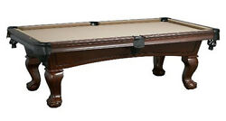 Lincoln Pool Table 7' With Antique Walnut Finish Free Shipping