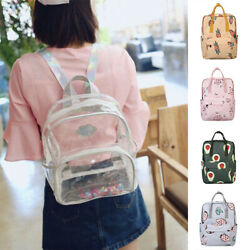 Womens Transparent Clear Backpack Shoulder Satchel Tote School Bag Handbag Pouch $20.03