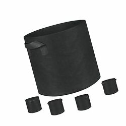 Grow Bags Root Pouch 5-Pack 10 Gallon Plantmate Flower Plant Hydroponic Fab...