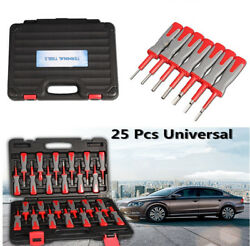 25pcs Car Wire Terminal Connector Release Removal Set Crimp Pin Tool Accessory