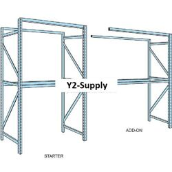 New Husky Rack And Wire Tear Drop Pallet Rack Add-on - 120w X 48d X 96h