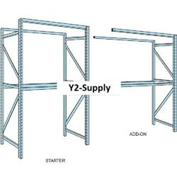 New Husky Rack And Wire Tear Drop Pallet Rack Add-on W/wire Deck-96wx48x144h