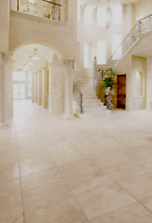 Crema Marfil Brushed And Chiseled Marble Tile 16x16 - 178 Sq/ft Home And Patio Stone