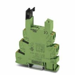 Phoenix Contact 1 pin Relay Socket DIN Rail 120V acdc for use with PLC Series