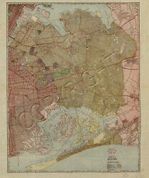 Vintage Map Of The Borough Of Queens New York Art Print With Framing Option