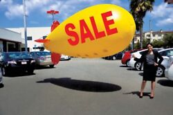 Giant 17' Sale Blimp Balloon For Car Lots And Dealerships Inflatable Advertising