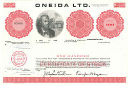 Oneida Vintage Stock Certificate Share