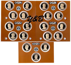 Complete Presidential Dollar 2012 - 2016 S Proof Set Each President 19 Coins