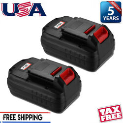 2x For Porter Cable Pc18b 18v Battery Pack Cordless Tool Pc188 Pcc489n 3600mah