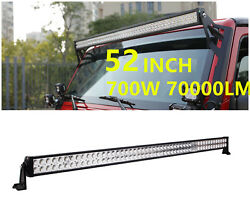 52inch 700w Led Work Light Bar Spot Flood Cree 4wd Suv Boat Offroad For Jeep 50