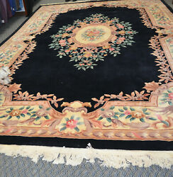 Vintage Antique Mer Hand-craved, Hand-dyed, Hand-woven Oriental Rug 1 Pile