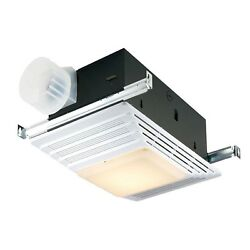 Broan 655 White Bathroom Ventilation Fan with and Heater and Light Combination