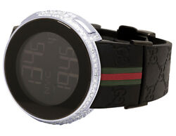 3a0e94977b8 Custom New Mens. Custom New Mens I Gucci Digital YA114207 Steel Case Full Diamond  Watch ...