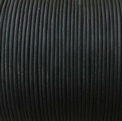 3mm Black leather round cord - 3mm Round Cord - Matte Finish 20