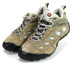 Merrell Chameleon II $89 Ventilator (No Insoles) Womens Trail Shoes Sz 7.5 Beige