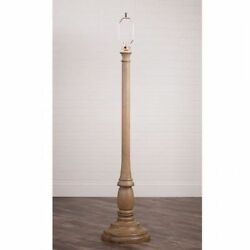 Irvinand039s Tinware Brinton House Primitive Farmhouse Floor Lamp Base In Pearwood